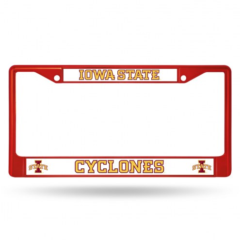 Iowa State Cyclones Colored Chrome License Plate Frame