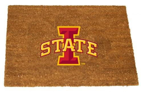 Iowa State Cyclones Colored Logo Door Mat