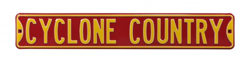 Iowa State Cyclones Country Street Sign