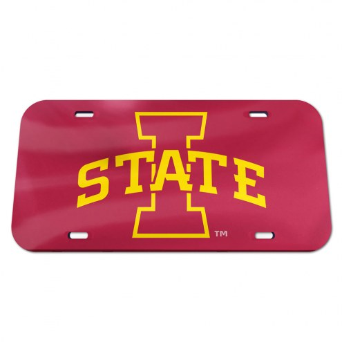 Iowa State Cyclones Crystal Mirror License Plate