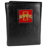 Iowa State Cyclones Deluxe Leather Tri-fold Wallet in Gift Box