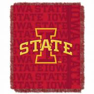 Iowa State Cyclones Double Play Woven Throw Blanket