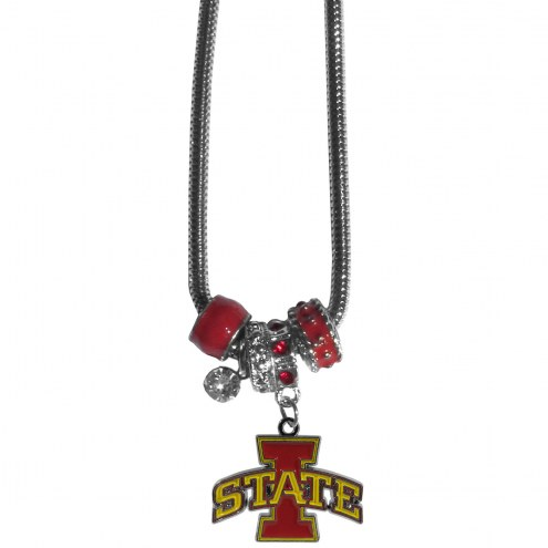 Iowa State Cyclones Euro Bead Necklace