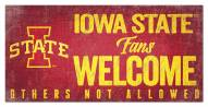 Iowa State Cyclones Fans Welcome Sign