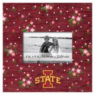 """Iowa State Cyclones Floral 10"""" x 10"""" Picture Frame"""