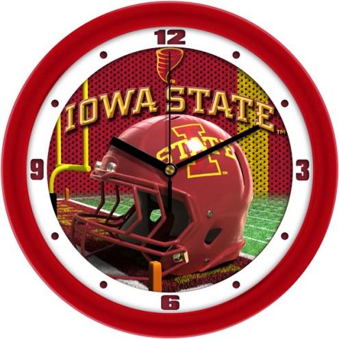 Iowa State Cyclones Football Helmet Wall Clock
