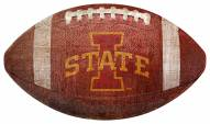 Iowa State Cyclones Football Shaped Sign