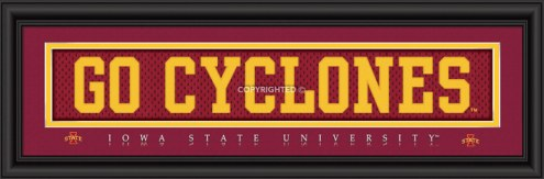 """Iowa State Cyclones """"Go Cyclones"""" Stitched Jersey Framed Print"""