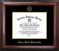 Iowa State Cyclones Gold Embossed Diploma Frame
