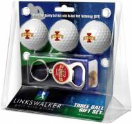 Iowa State Cyclones Golf Ball Gift Pack with Key Chain
