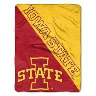 Iowa State Cyclones Halftone Raschel Blanket