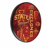 Iowa State Cyclones Digitally Printed Wood Clock