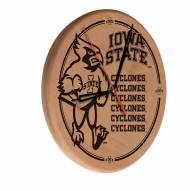 Iowa State Cyclones Laser Engraved Wood Clock