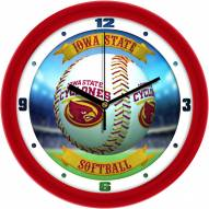 Iowa State Cyclones Home Run Wall Clock