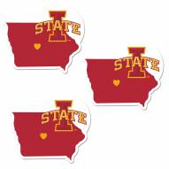 Iowa State Cyclones Home State Decal - 3 Pack