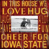 """Iowa State Cyclones In This House 10"""" x 10"""" Picture Frame"""