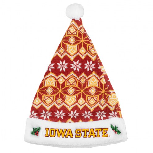Iowa State Cyclones Knit Santa Hat