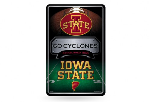 Iowa State Cyclones Large Embossed Metal Wall Sign