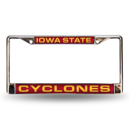 Iowa State Cyclones Laser Chrome License Plate Frame