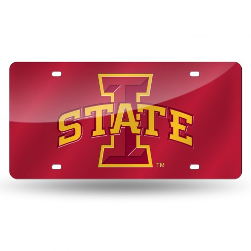 Iowa State Cyclones Laser Cut License Plate