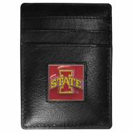 Iowa State Cyclones Leather Money Clip/Cardholder in Gift Box