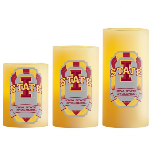 Iowa State Cyclones LED Light Candle Set