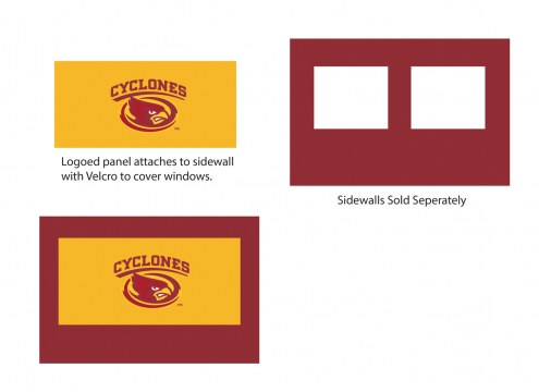 Iowa State Cyclones Logo Canopy Sidewall Panel (Attaches to Window Sidewall)