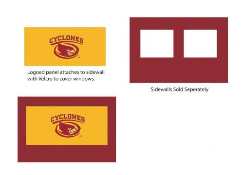 Iowa State Cyclones Logo Canopy Sidewall Panel (Attaches to Window Sidewall)