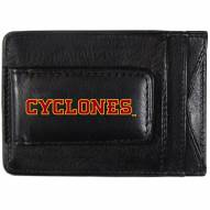Iowa State Cyclones Logo Leather Cash and Cardholder