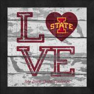 Iowa State Cyclones Love My Team Square Wall Decor