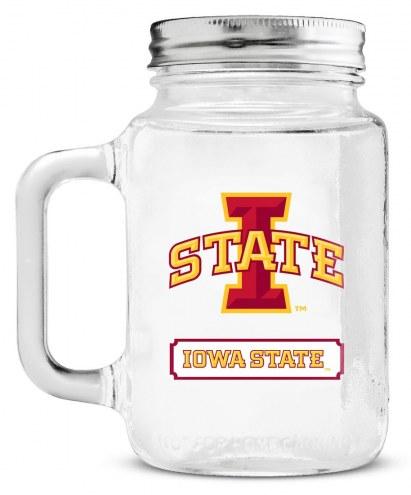 Iowa State Cyclones Mason Glass Jar