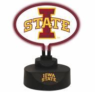 Iowa State Cyclones Team Logo Neon Light