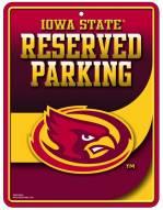Iowa State Cyclones Metal Parking Sign