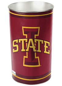 Iowa State Cyclones Metal Wastebasket