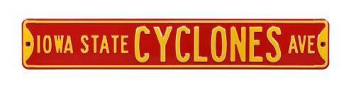 Iowa State Cyclones NCAA Embossed Street Sign