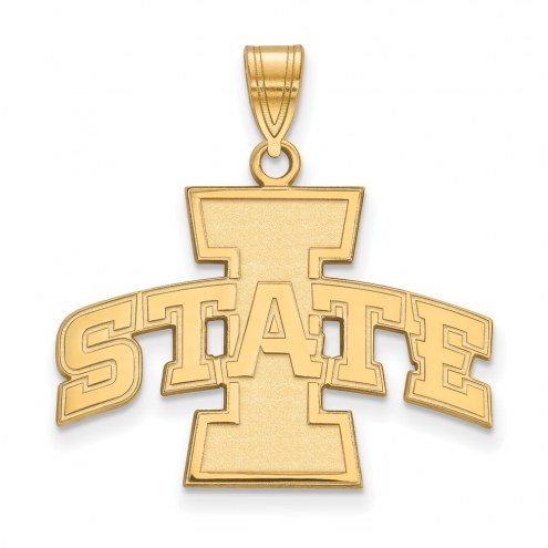Iowa State Cyclones NCAA Sterling Silver Gold Plated Large Pendant