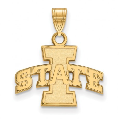 Iowa State Cyclones NCAA Sterling Silver Gold Plated Small Pendant