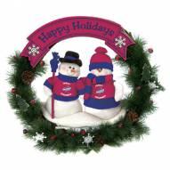 Iowa State Cyclones NCAA Team Snowman Christmas Wreath
