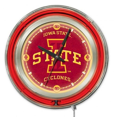 Iowa State Cyclones Neon Clock