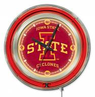 Iowa State Cyclones Neon Clock