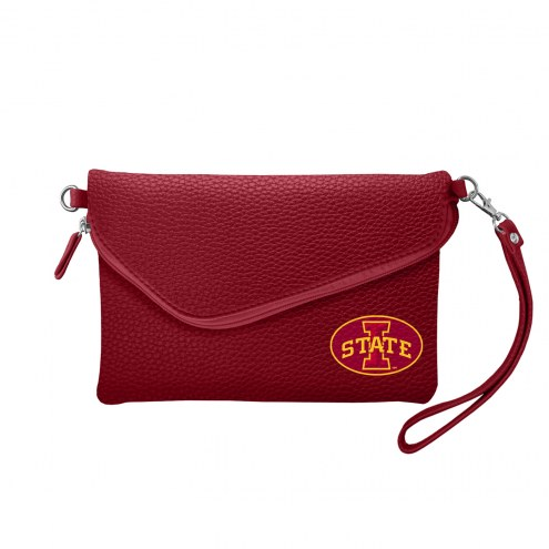 Iowa State Cyclones Pebble Fold Over Purse