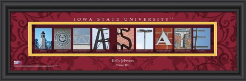 Iowa State Cyclones Personalized Campus Letter Art