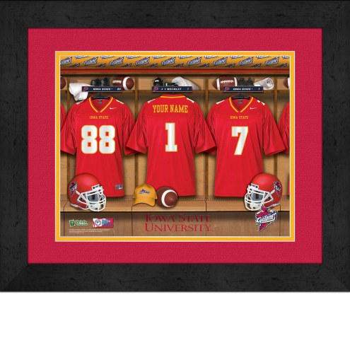 Iowa State Cyclones Personalized Locker Room 13 x 16 Framed Photograph
