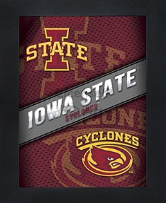 Iowa State Cyclones Framed 3D Wall Art