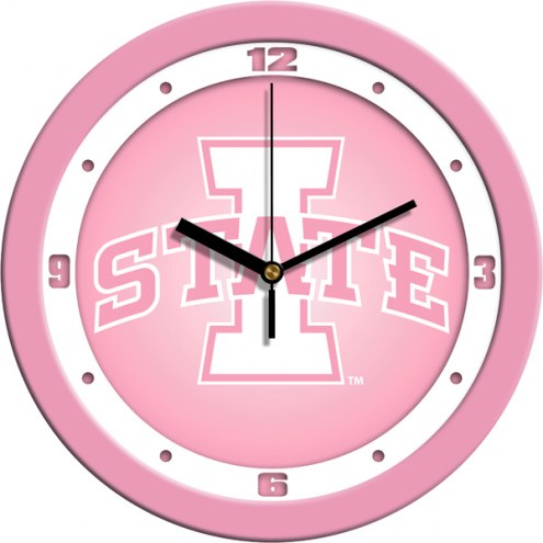 Iowa State Cyclones Pink Wall Clock