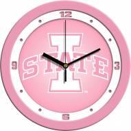 Iowa State Cyclones Pink Wall Clock