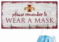 Iowa State Cyclones Please Wear Your Mask Sign