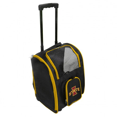 Iowa State Cyclones Premium Pet Carrier with Wheels