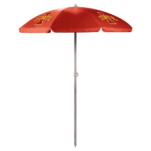Iowa State Cyclones Red Beach Umbrella