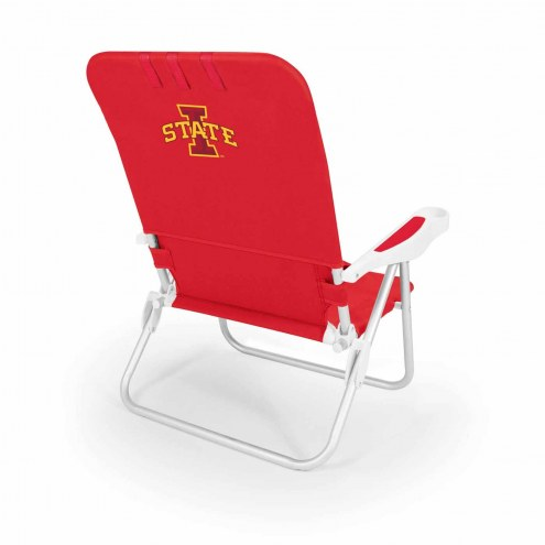 Iowa State Cyclones Red Monaco Beach Chair